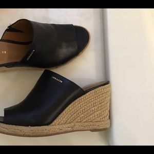 Coach leather Slip on Sandals